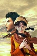 122286 Shenmue II Ryo and Shenhua Sega DreamCast Decor LAMINATED POSTER US