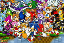 122358 Sonic and FriendSega GeiCD Saturn DreamCast Decor LAMINATED POSTER CA