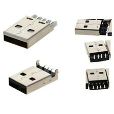 30V PCB Plug USB JACK 2.0 AM(Type-A Male)4 pin Connector 90 /180° Solder for DIY