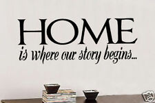 Home is where our Vinyl Wall Lettering Words Sticky