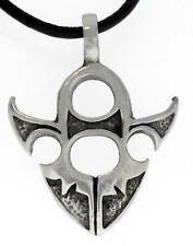 ARROWHEAD TRIBAL SURFER Pewter Pendant Leather Necklace