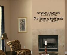 House Built Boards Beams Wall Stickers Vinyl Decal Word