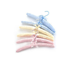 New Cream Satin Padded Coat Clothes Hook Hangers