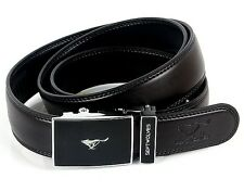 New-Mens Belts Genuine Wolf Totem Black Leather 30-50""