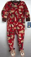 Carters Toddler Fleece PUPPY DOG Blanket Sleeper Red