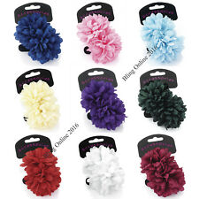 2pc PONIO HAIR BAND 7cm FLOWERS HAIRBANDS ELASTICS BOBBLES GIRLS LADIES PONYTAIL