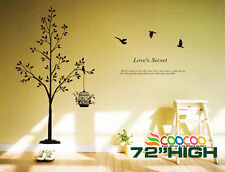 """Wall Decor Decal Sticker Removable large bird cage Tree DC0107 72""""H"""