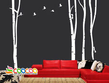 Wall Decor Decal Sticker large birch tree trunk forest