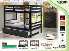 NEW!! Arizona Bunk Bed Single or w/Trundle or w/Drawers