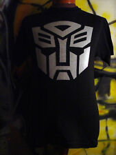 TRANSFORMERS AUTOBOTS MEN T-SHIRT BLACK OR / SILVER NEW