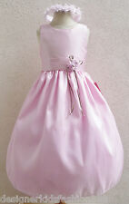 LIGHT PINK FLOWER GIRL PAGEANT BRIDESMAID FORMAL DRESS 6M 12M 18M 24M 2 4 6 8 10