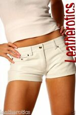 White leather shorts jeans style sexy tight wear 272