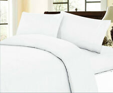 1500TC Sheet Set 100%Cotton White Solid All Size & Deep
