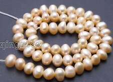 "SALE 6-7mm natural Pink Freshwater Pearl Loose Beads 14""-los389"