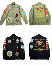 Men's Fully EMBROIDERY MILITARY JACKET runway hyun bin souvenir patch