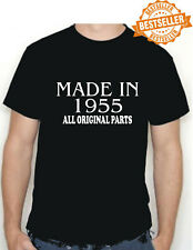 BIRTHDAY T-shirt MADE IN 1955 all original parts choose size and colour * NEW *