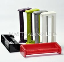 Kitchen Towel Paper Roll Holder Wall Mount Mounted Dispenser In 5 Asst Colours