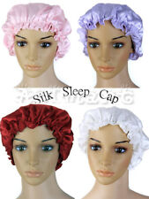 Soft Silk Sleeping Cap Sleep Hat Night Hair Care Bonnet 4 Colors Pink/White Pick