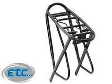 "ETC BIKE OVERSIZED ALLOY 26"" OR 700C PANNIER BAG RACK. BLACK OR SILVER.  ECC027."