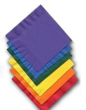 33 X 33cms SQUARE PAPER NAPKINS Pack of 20 Disposable Partyware 20 COLOURS