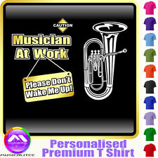 Euphonium Dont Wake Me - Personalised Music T Shirt 5yrs - 6XL by MusicaliTee