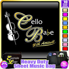Cello Babe With Attitude - Sheet Music & Accessories Custom Bag by MusicaliTee