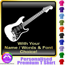 Electric Guitar Picture With Your Words - Music T Shirt 5yrs - 6XL MusicaliTee