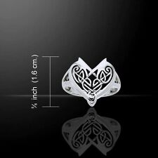 Celtic Irish Love Heart Silver Ring Size 6, 7 or 8 - Traditional Knotwork