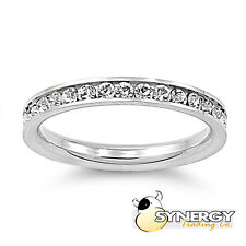 Eternity Ring 3MM - CLEAR CZ - Stainless Steel - Sizes 3 to 10