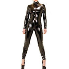 PL13 - Plus Size PVC Wetlook Bodysuit Catsuit Jumpsuit Costume Black XL XXL 2XL