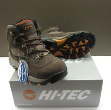 Hi-Tec Youths Kruger Dk.Choc/Taupe/Orange Waterproof Walking Bts New In  **