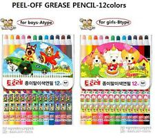 12colors CHINA MARKERS PEEL-OFF GREASE PENCIL (12 COUNT).monami