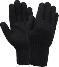 Black Wool Blend Winter Cold Weather Military Blank Gloves