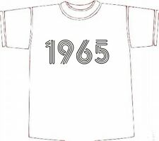 Retro BIRTHDAY T-SHIRT GIFT IDEA, Year of Birth 1965 choose size/colour * NEW *