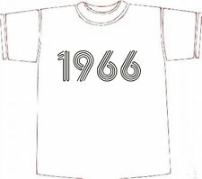 Retro BIRTHDAY T-SHIRT GIFT IDEA, Year of Birth 1966 choose size/colour * NEW *