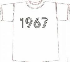 Retro BIRTHDAY T-SHIRT GIFT IDEA, Year of Birth 1967 choose size/colour * NEW *