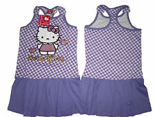 GIRLS DRESS OFFICIAL HELLO KITTY PURPLE 3 4 5 6 7 8 & 9 YEARS OLD BNWT