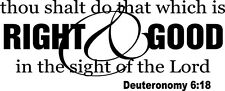 Do That Which Is Right & Good Christian Verse Vinyl Wall Decal Stickers Letters
