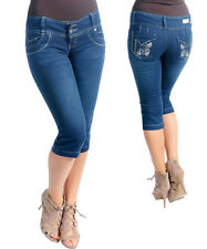 Capri Jeans by Kaba w/Embroidered Heart Design