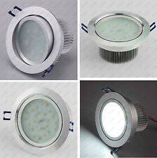 15W/18W LED Ceiling Recessed Light Canteen Mall Bathroom Lamp Frosted Acrylic