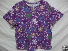 New women's plus size 20-22 or  24-26 purple shirt with butterflies & flowers