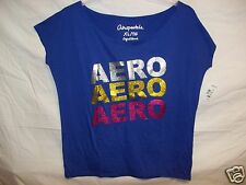 women's  size M L XL Aeropostale Aero Stacked Graphic tee shirt everyday