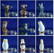 9 NICKELODEON PENGUINS OF MADAGASCAR FIGURE KEYCHAIN ZIPPER PULL YOU PICK ONE