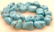 "SALE Big 15 to 20mm BAROQUE bright Blue manmade Turquoise Beads strand 15""-lo412"