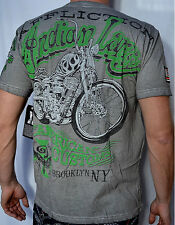 Affliction American Customs INDIAN LARRY SHAMAN T-Shirt - A4426  White Oil Stain