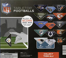 NEW NFL LICENSED TABLETOP MINI FOOTBALL 2 PIECE SET + GAME RULES - YOU PICK TEAM
