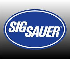 Sig Sauer Firearms Logo Bumper Sticker Decal - Two Sizes To Choose From