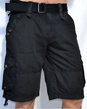Affliction Black Premium Men's WILDFOX CARGO SHORTS - 10WS415 - NEW - Black