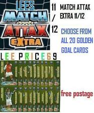 MATCH ATTAX EXTRA 11/12 CHOOSE FROM ALL 20 GOLDEN GOAL CARDS
