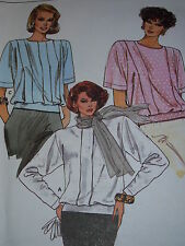 VOGUE #9499 LADIES LONG or SHORT PLEATED FRONT BLOUSE or TOP PATTERN 10 or 16 uc
